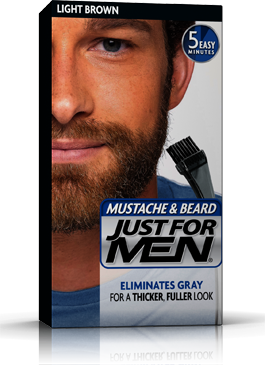 Just for Men Mustache & Beard Gel Light Brown